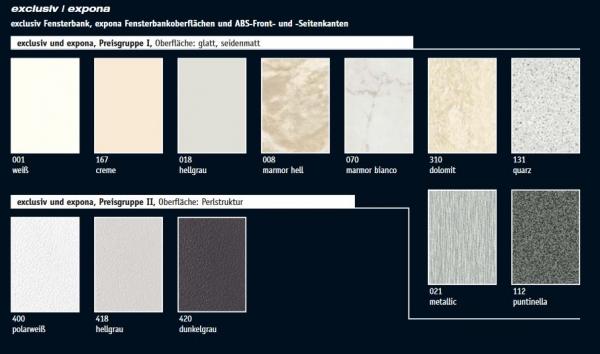 Werzalit exclusiv Fensterbank Dekorkollektion 550 mm - Heim-Baustoffe